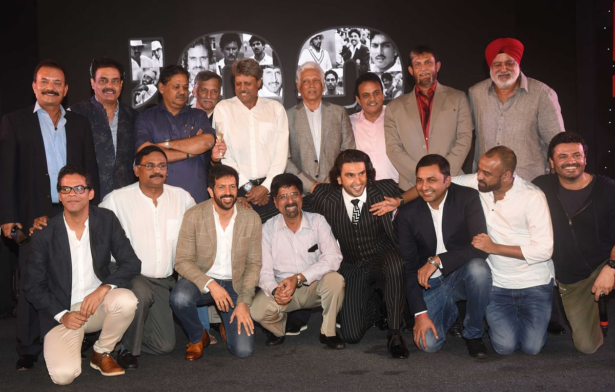 The real team of '83 meets the filmi one.