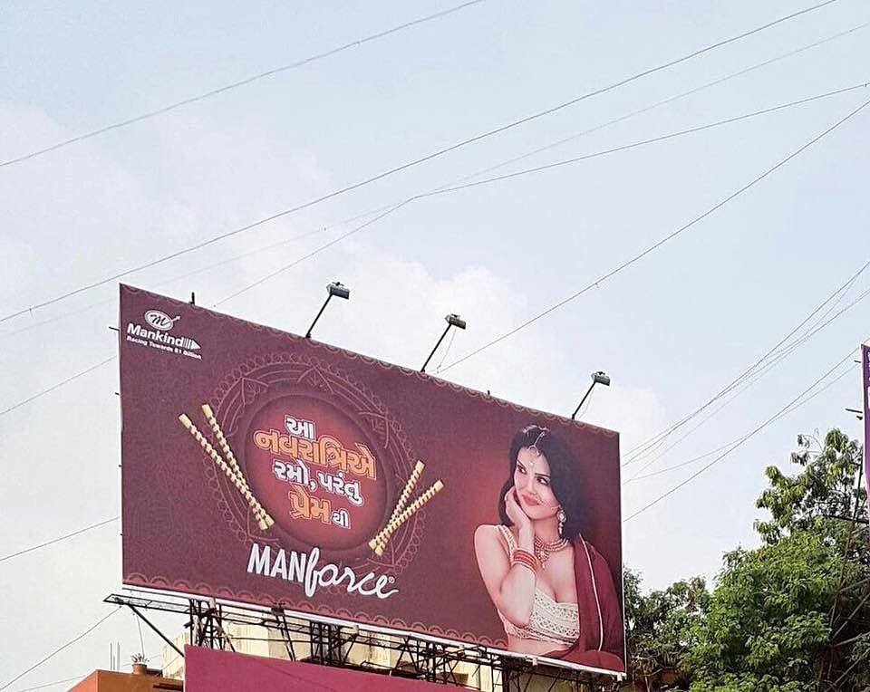One of the hoardings in Gujarat.