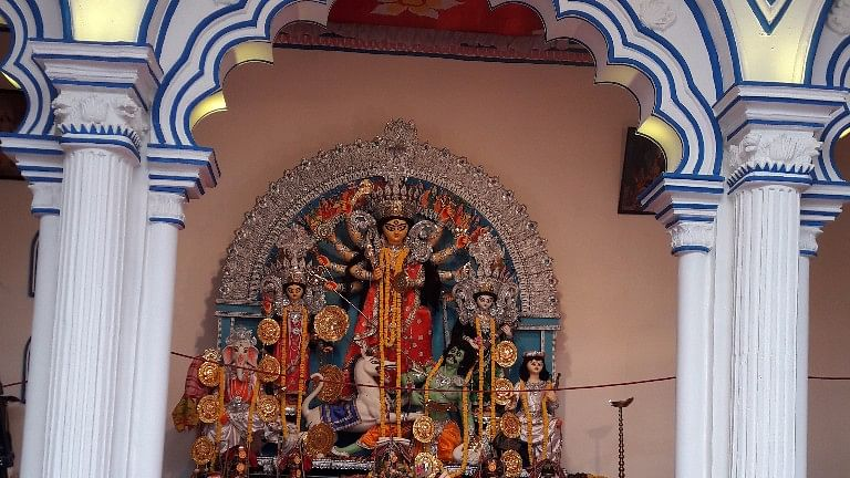 At a south Kolkata pandal, people are mesmerised with relics reminding one of the illustrious Bhadralok culture.