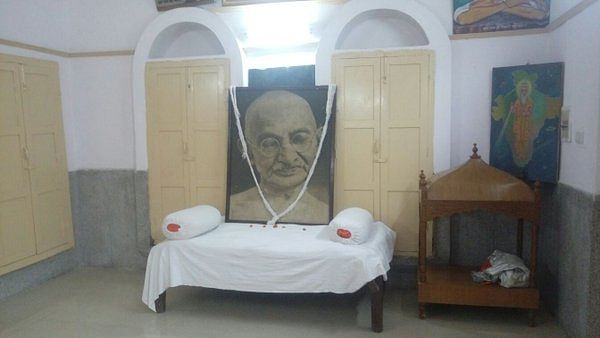 Bapu's room in the Valmiki temple.