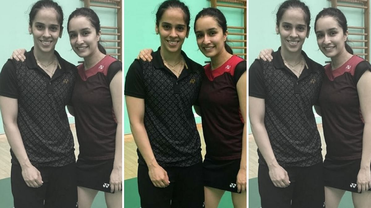 Shraddha Kapoor with Saina Nehwal.
