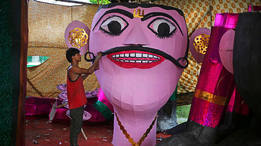 File image of an Indian worker gives final touches to an effigy. Image used for representational purposes.