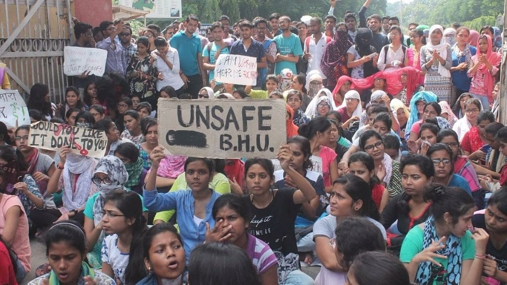 Students protests at BHU.