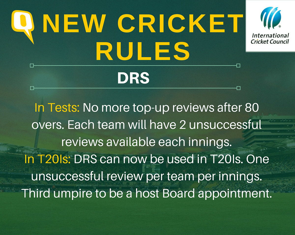The Complete List of New Cricket Rules Introduced by the ICC