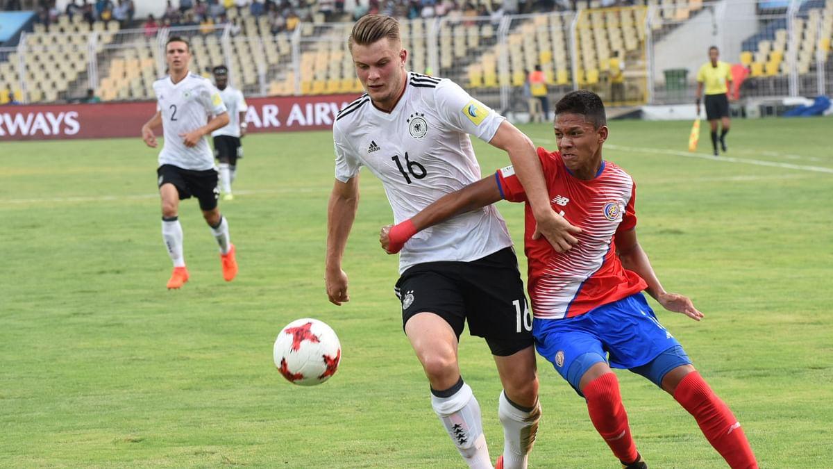 Germany beat Costa Rica 2-1.