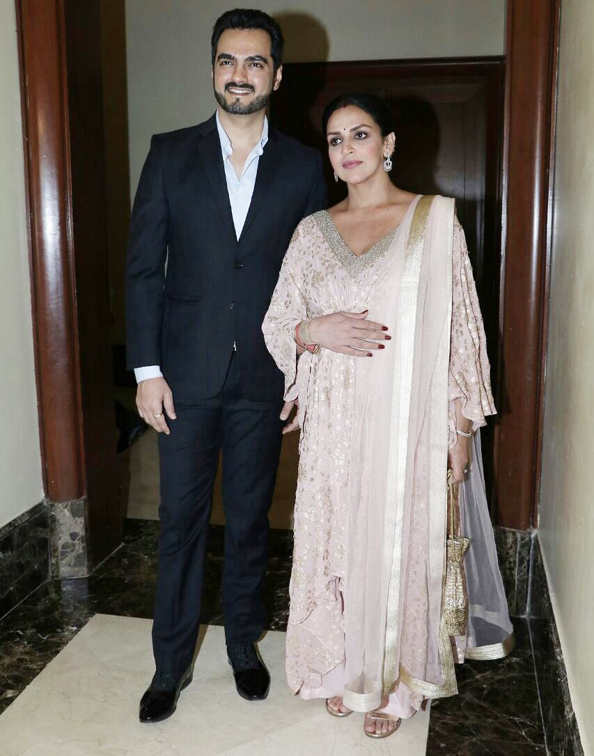 Esha with Bharat at the book launch.