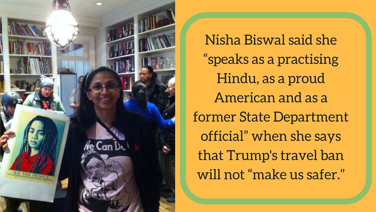 Nisha Biswal on Donald Trump's proposed travel ban.