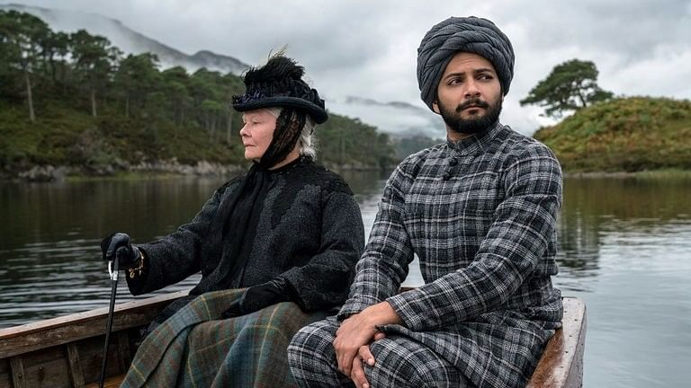 Judi Dench and Ali Fazal in a scene from <i>Victoria &amp; Abdul.</i>