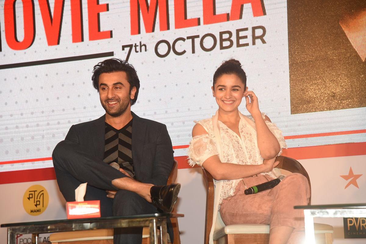 Ranbir and Alia in coversation with Karan Johar at Jio MAMI Movie Mela