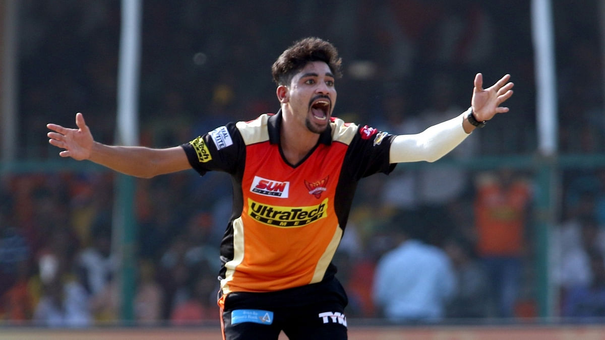 Mohammed Siraj in action during the IPL.