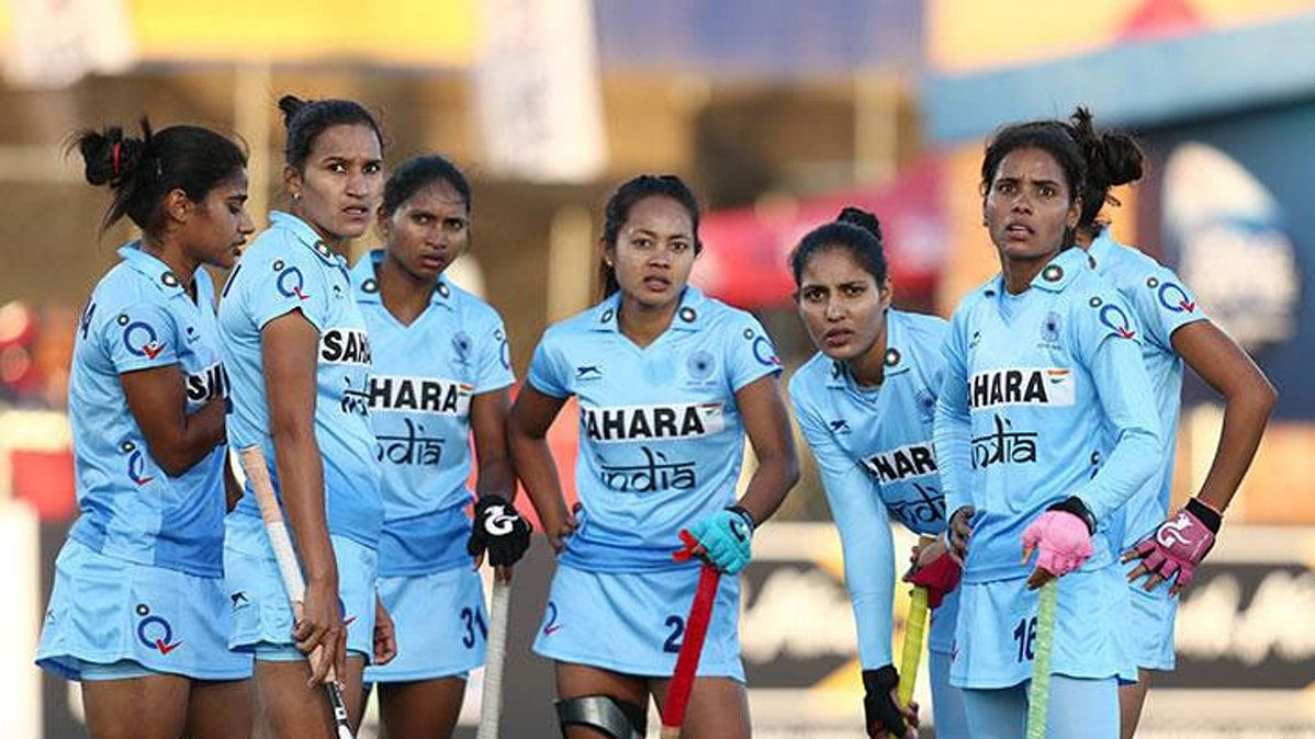 File photo of the Indian women hockey team.