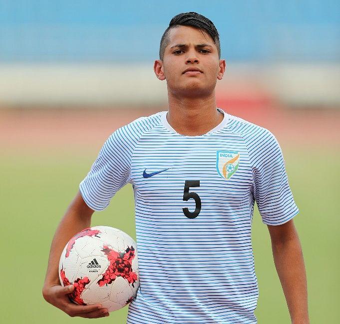 Sanjeev Stalin is a defender in the India U-17 team.