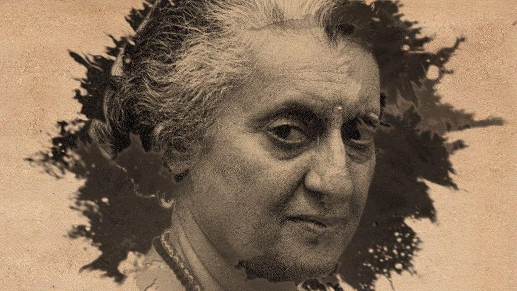 Former Prime Minister Indira Gandhi.