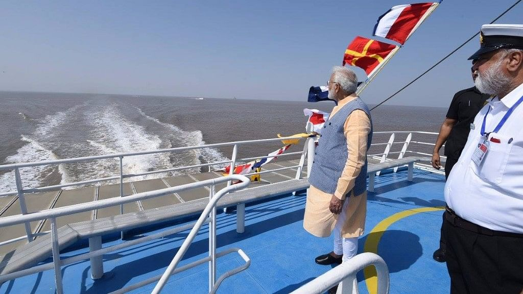 In Phase 1, the Ro-Ro (Roll on, Roll off) ferry service between Ghogha and Dahej can only ferry passengers.