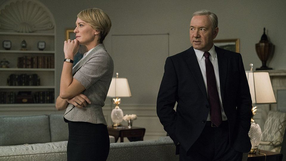 Robin Wright and Kevin Spacey in <i>House of Cards.</i>