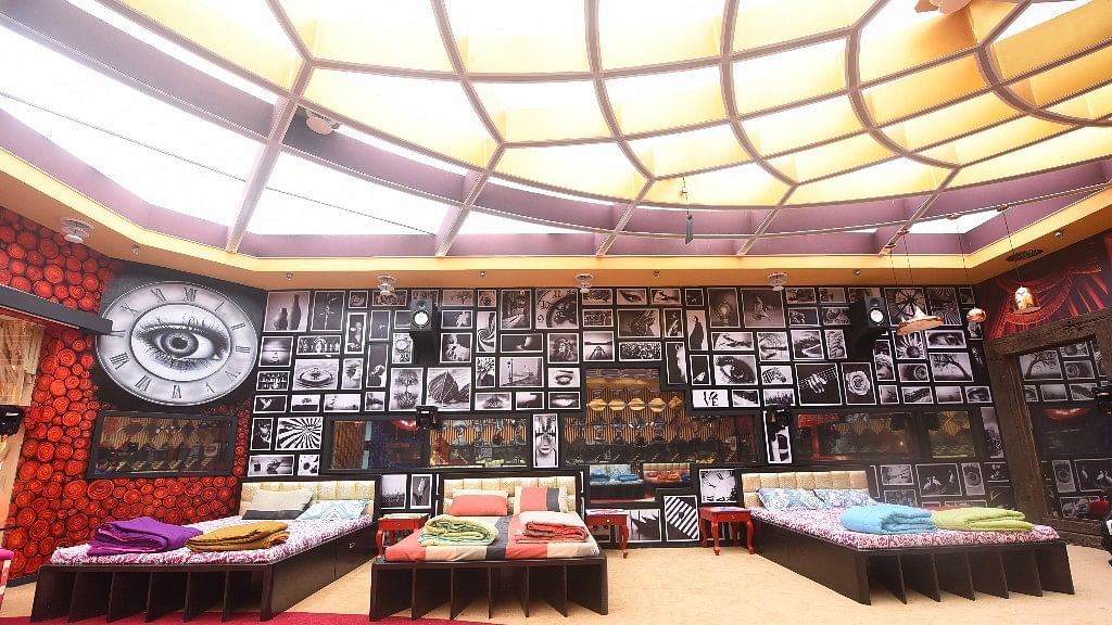 The bedroom of the <i>Bigg Boss</i> 11 house.