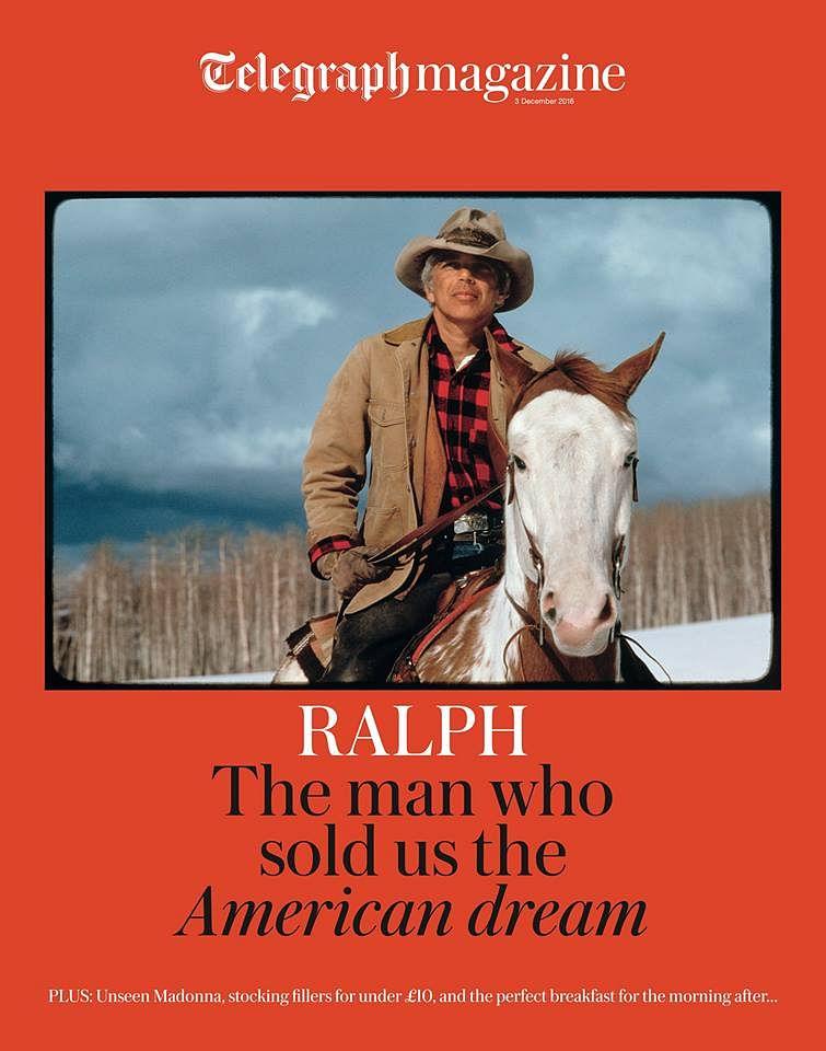 """Ralph Lauren featuring in <a href=""""https://www.facebook.com/TELEGRAPH.CO.UK/"""">The Telegraph</a><a href=""""http://rlauren.co/telegraphuk""""> magazine </a>"""