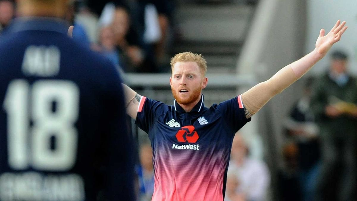 File photo of a successful appeal by England's Ben Stokes for West Indies Marlon Samuels wicket during the first Royal London One Day International match between England and West Indies at Emirates Old Trafford in Manchester, Sept. 19, 2017.