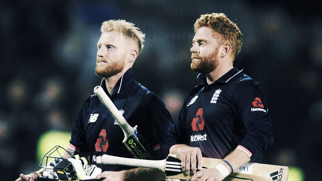 File photo of England's Johnny Bairstow, right, and England's Ben Stokes<a></a>