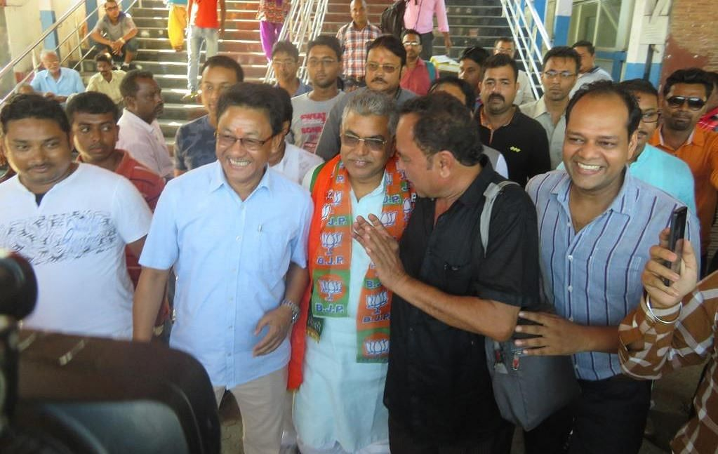 State BJP President Dilip Ghosh reaches Kalimpong on Wednesday.