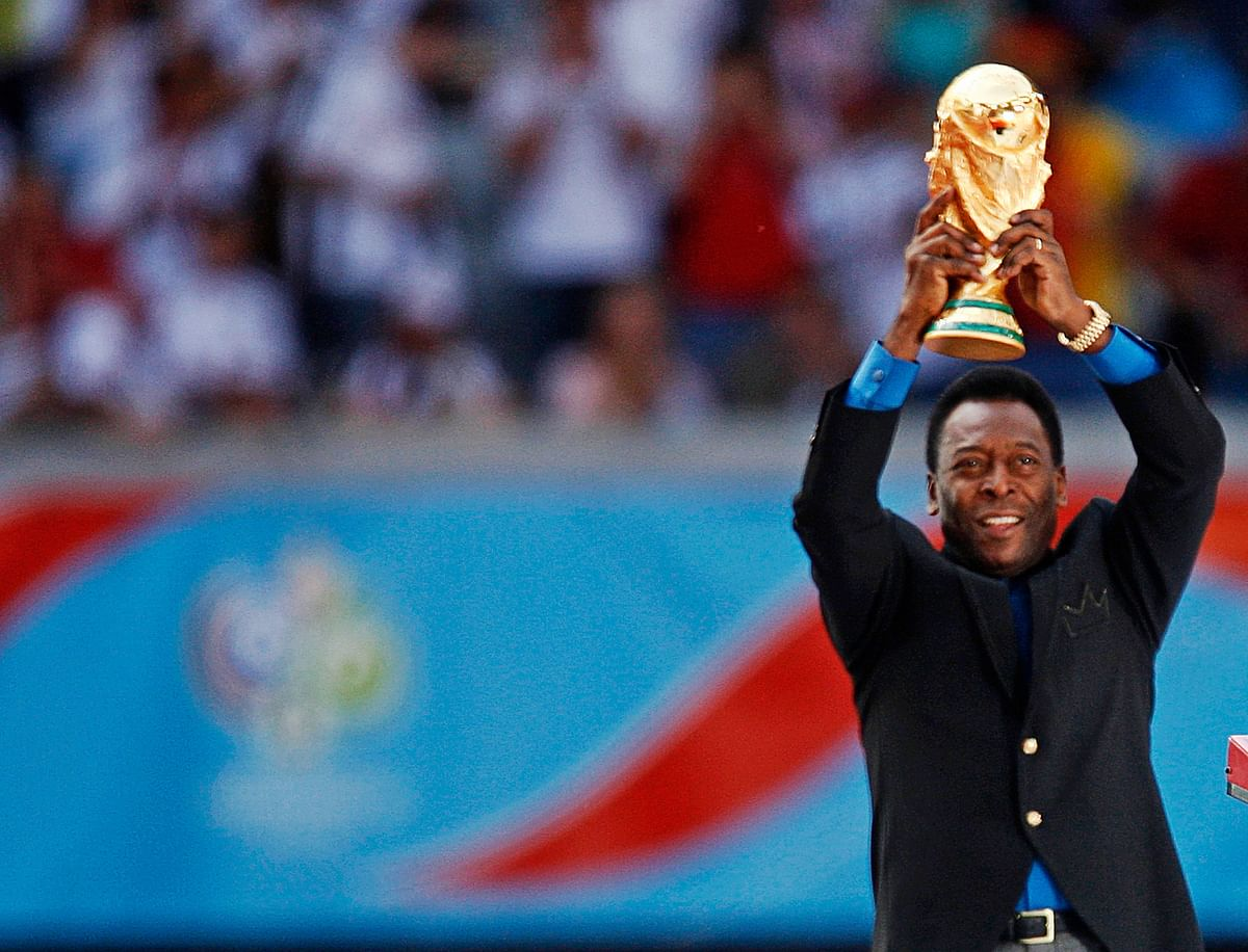 Pele was a member of the 1958, 1962 and 1970 World Cup-winning Brazilian soccer teams.