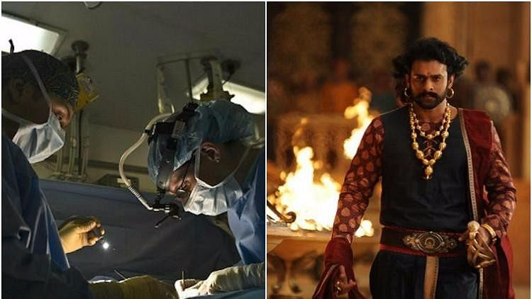 The patient watched 'Baahubali 2' while the doctors were operating on her.