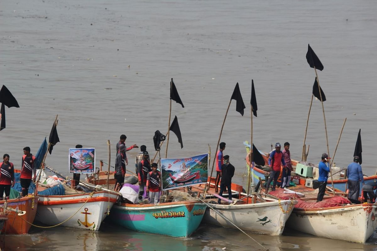 Protests by fishermen in Bharuch district