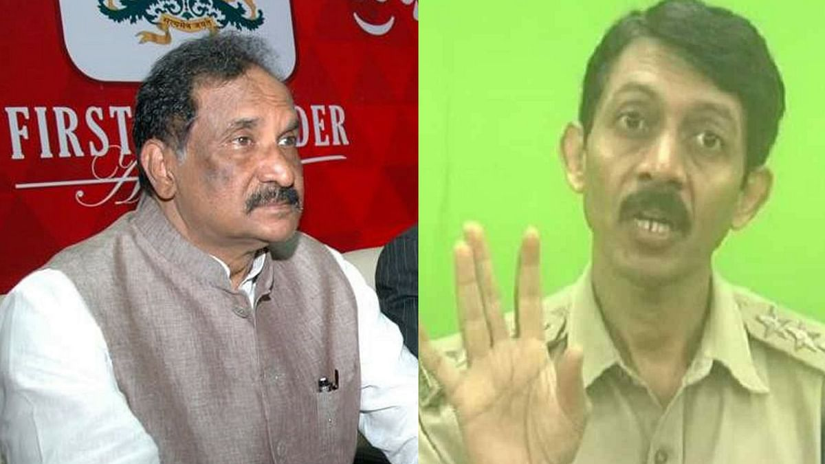 KJ George (L) was accused of harassment by K Ganapathy (R).