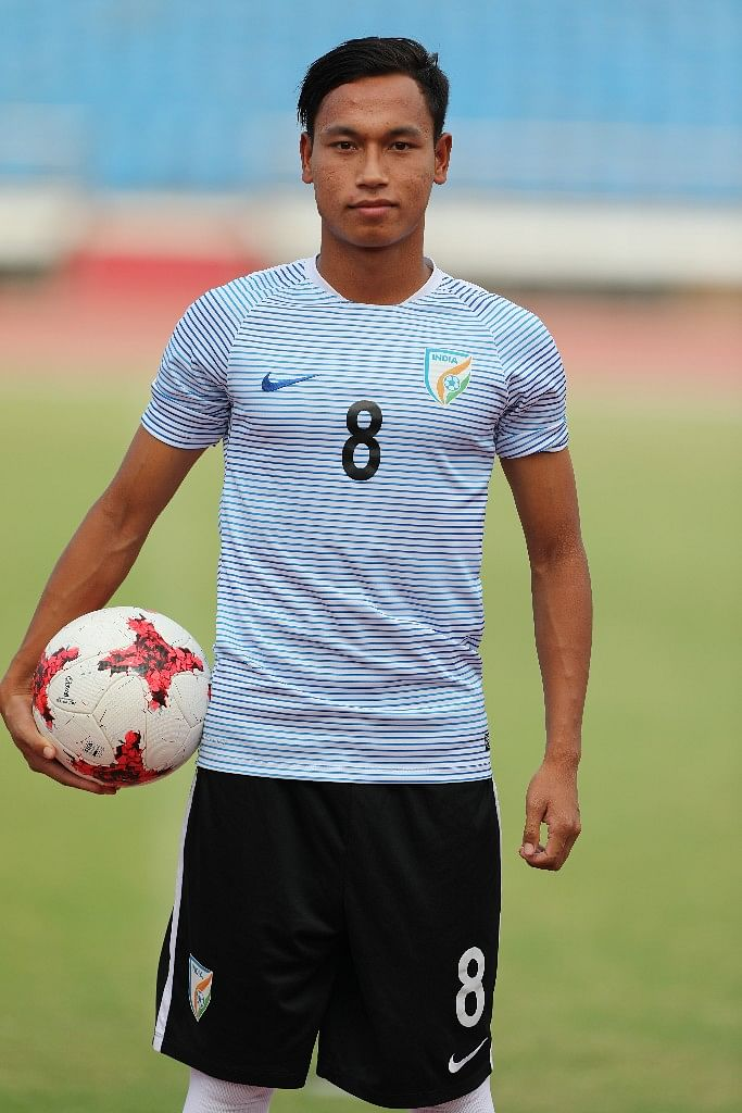 Amarjit is the captain of the India U-17 team.
