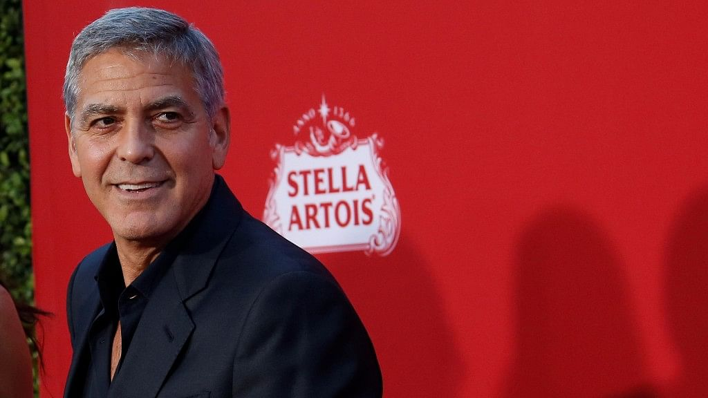 George Clooney talks about sexual harassment in Hollywood.