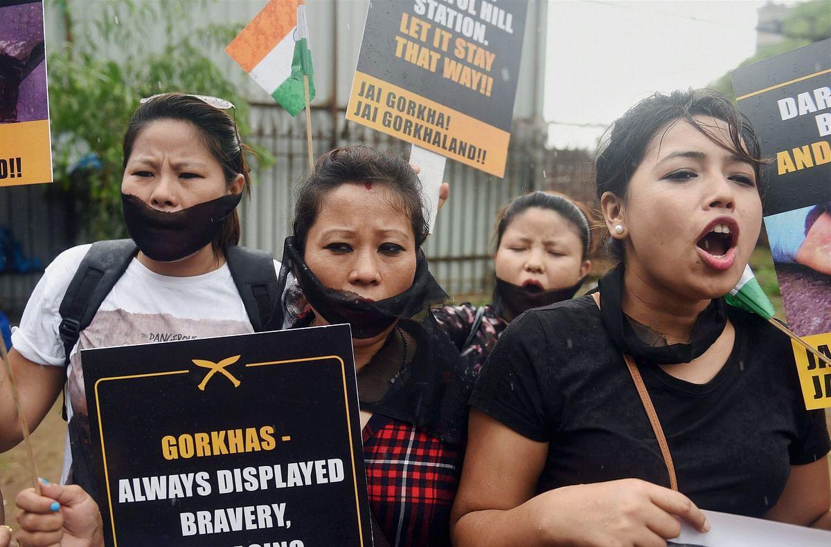 Pro-Gorkhaland protests.