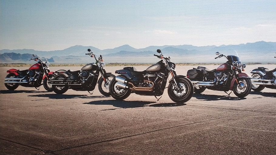 The new 2018 edition Harley Davidson motorcycles.