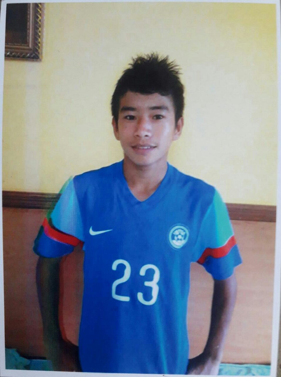 Defender Boris Singh started playing football with a tennis ball!