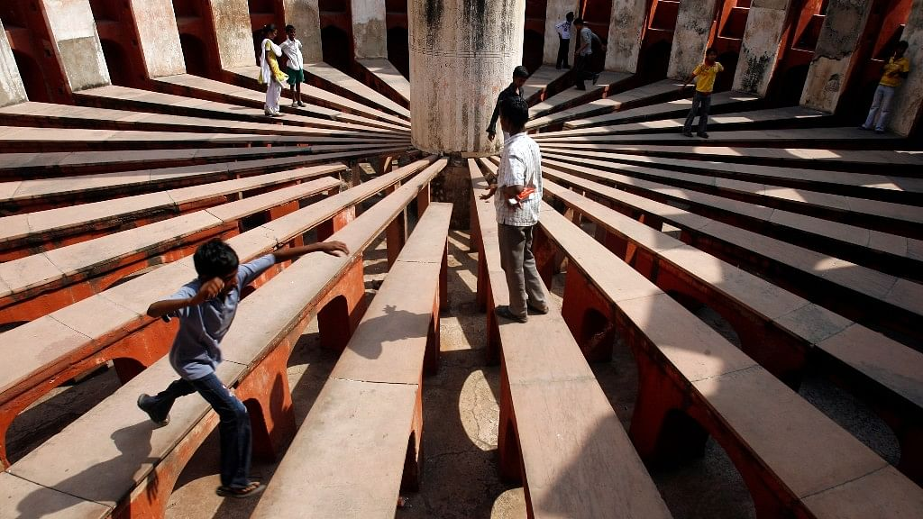 Sun clock at Delhi's Jantar Mantar.