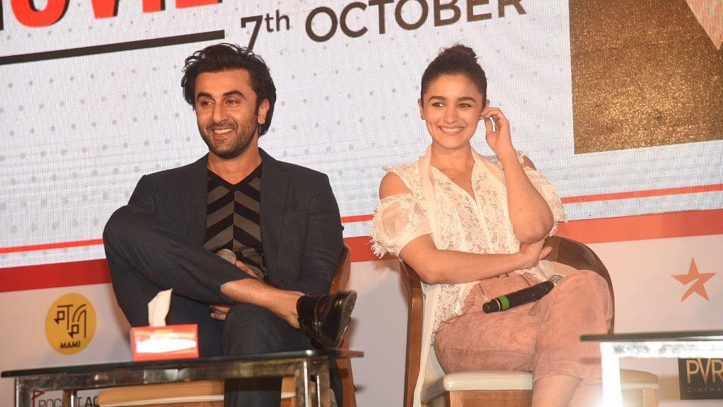 Ranbir and Alia in conversation with Karan Johar at Jio MAMI Movie Mela.