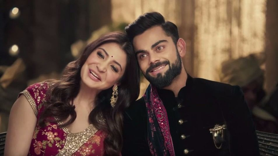 A still from the new ad featuring celebrity couple Anushka Sharma and Virat Kohli.