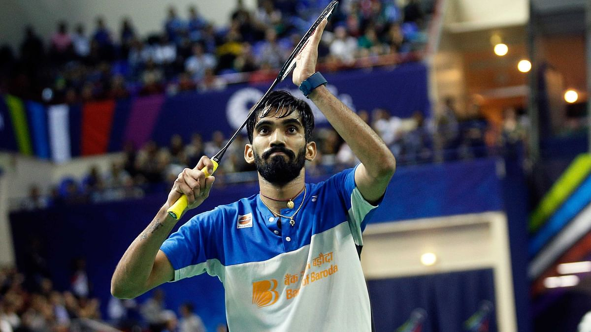 Kidambi Srikanth made the quarters for the first time in seven months after claiming a thrilling win in men's singles on Thursday.