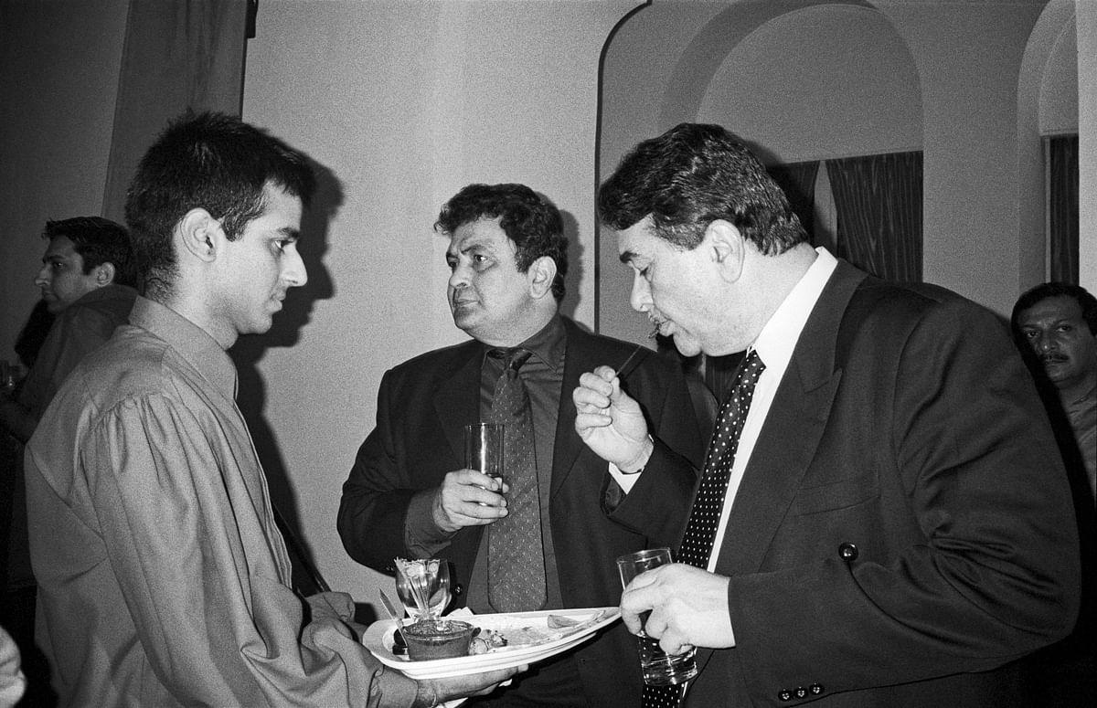 Randhir and Rishi Kapoor, Bombay Times Party, Mumbai 2002.
