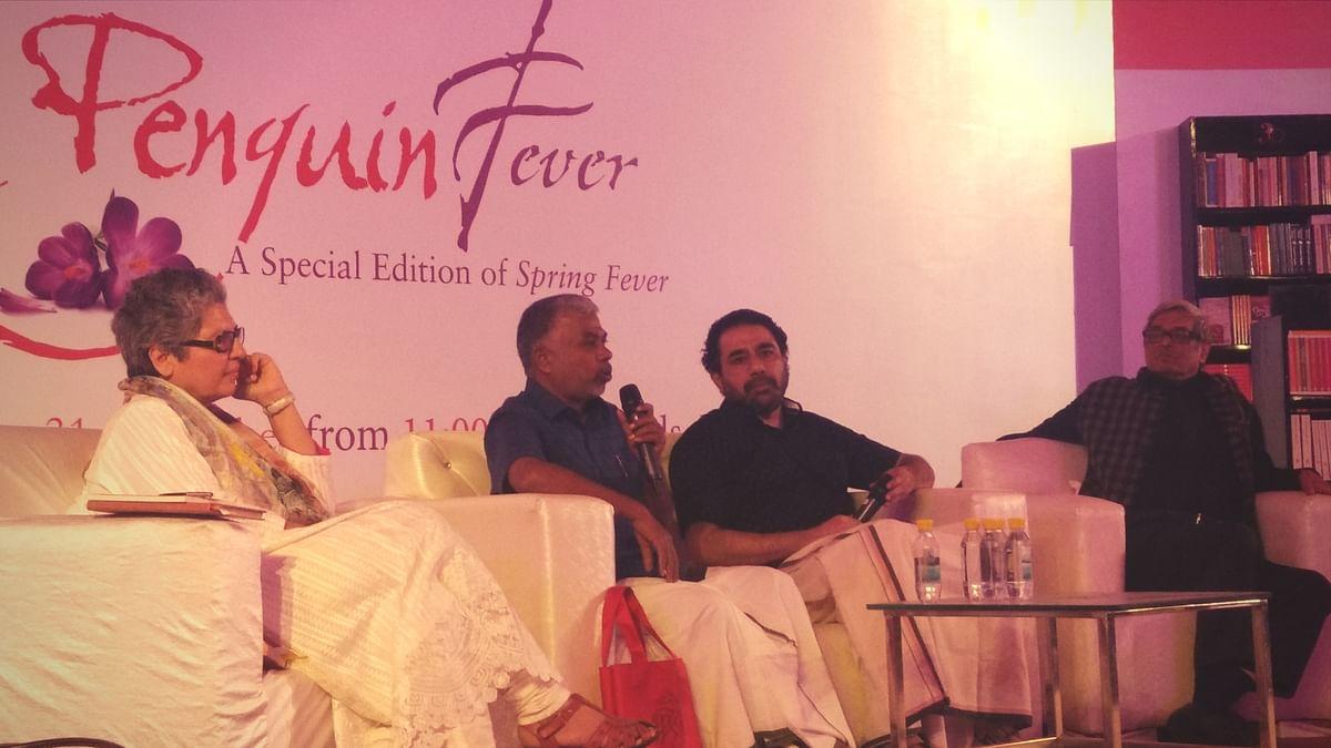 Perumal Murugan, Bibek Debroy, Rana Safvi and Kannan Sundaram discussed translations, in a riveting session moderated by author Namita Gokhale.
