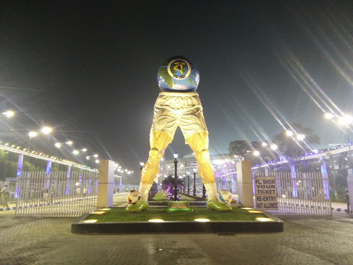 The Yuba Bharati Krirangan Stadium in Kolkata which was revamped for the U-17 Football World Cup.