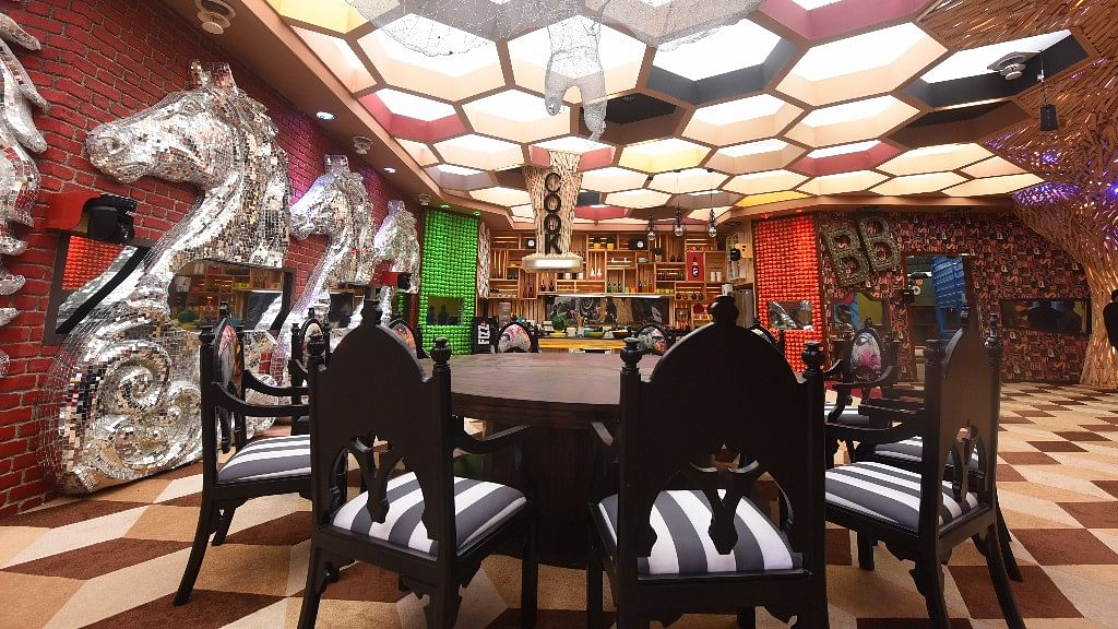 The dining area of the <i>Bigg Boss</i> 11 house.&nbsp;