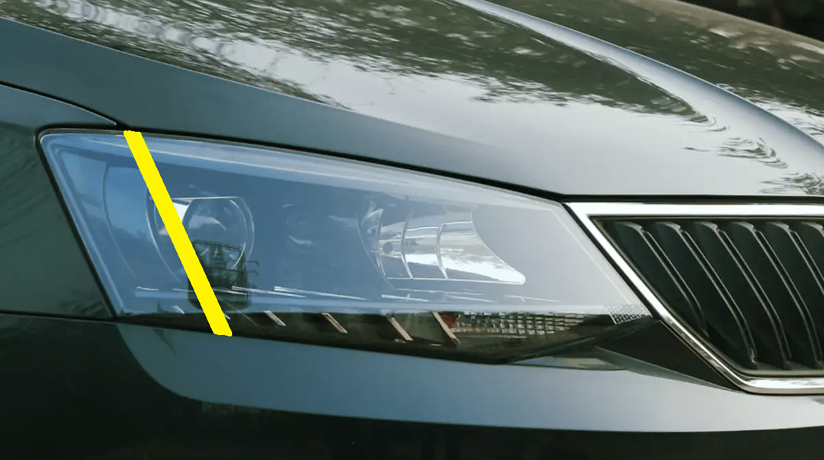 Gujarat requires motorists to paste a yellow sticker on the right side of the main beam on car headlamps.