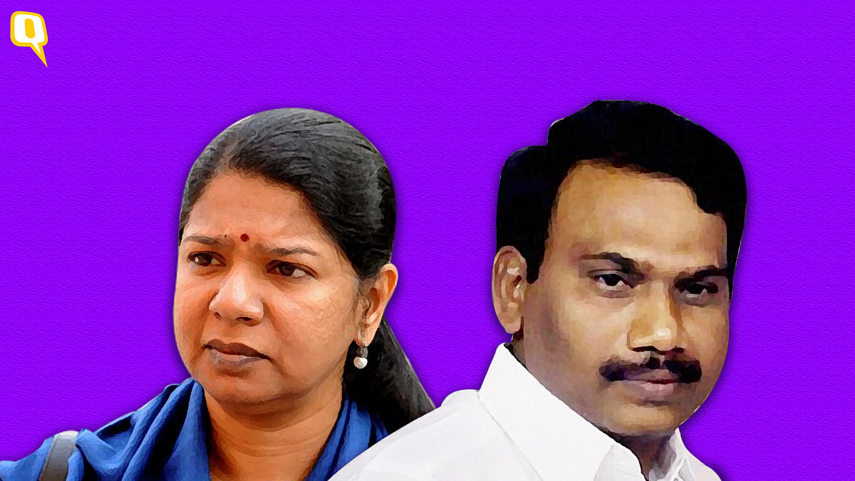Kanimozhi and A Raja, the key accused in the 2G spectrum case.