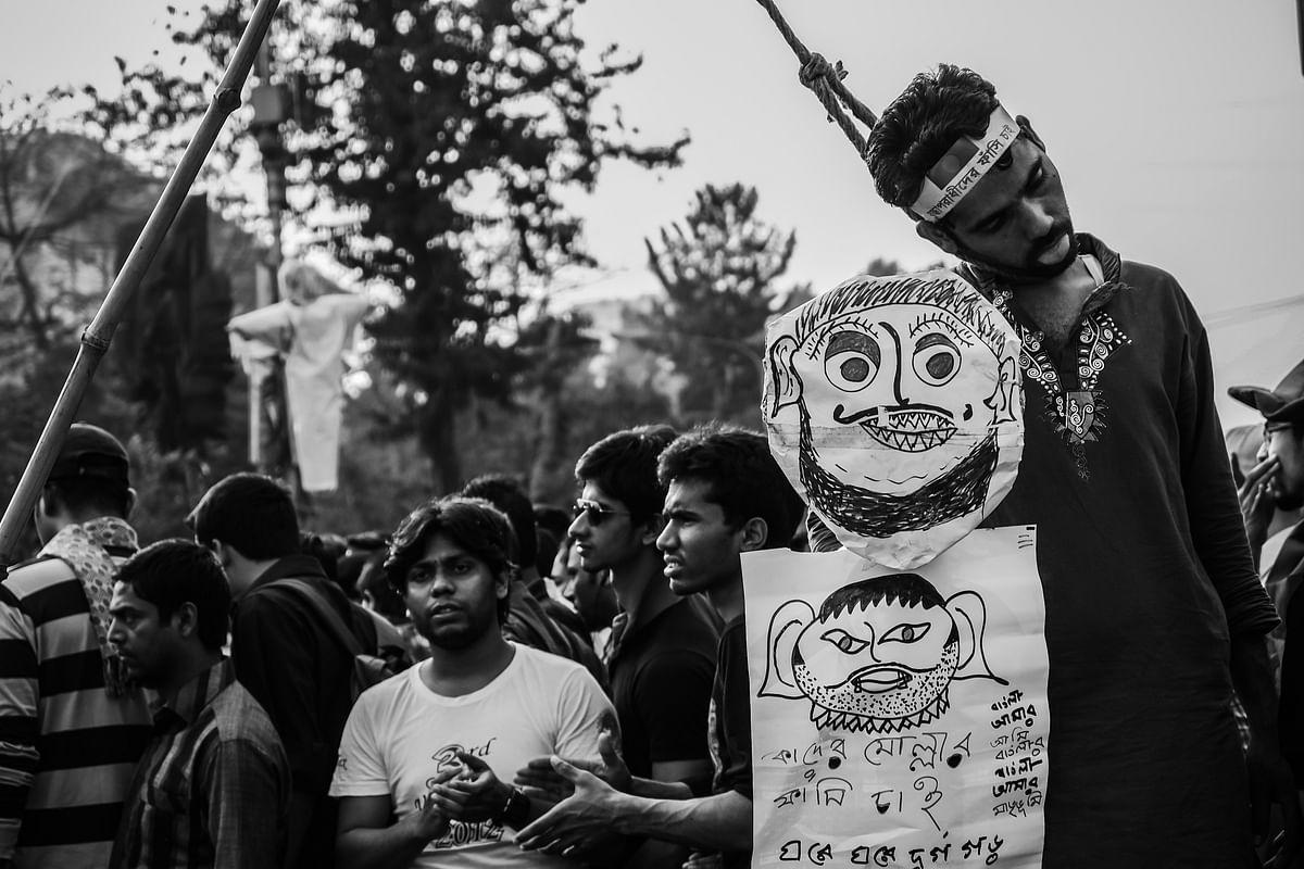 Uprising of people at Shahbag, Dhaka, Bangladesh, demanding death penalty for war criminals of 1971. Image used for representational purposes.