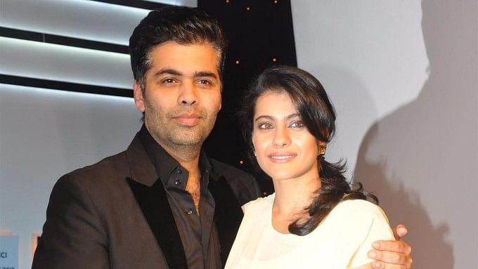 Kaan Johar with Kajol in happier times.