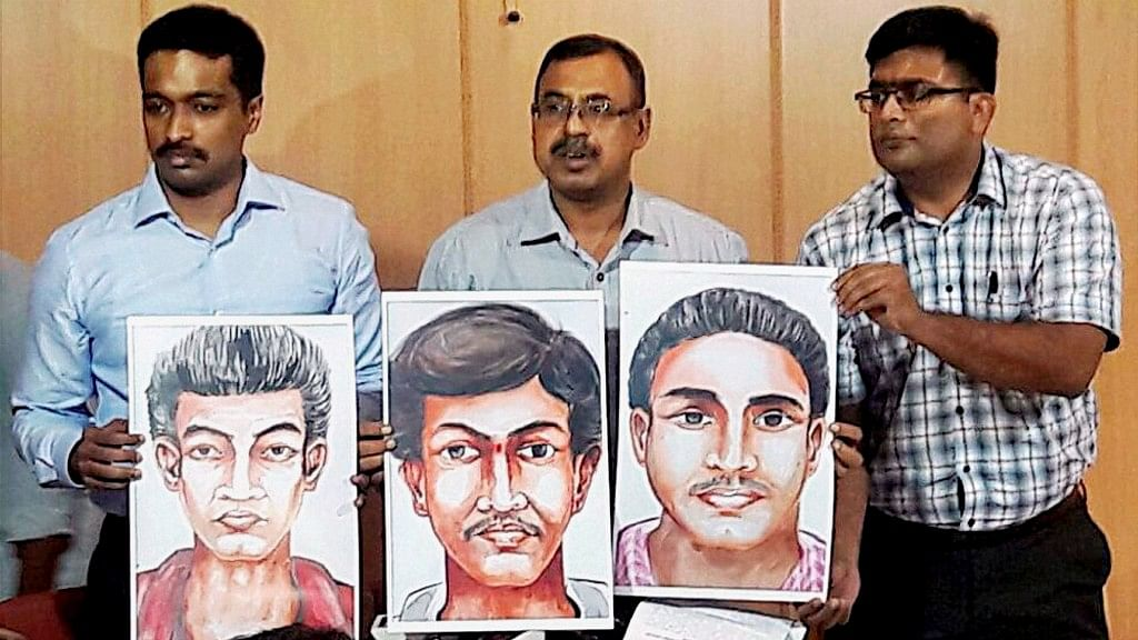 "Karnataka Police released sketches of the suspected killers and asked for ""public help."""