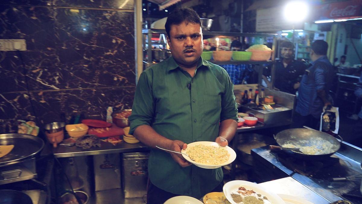 Yaqat Ali with his Italian Desi Pasta.