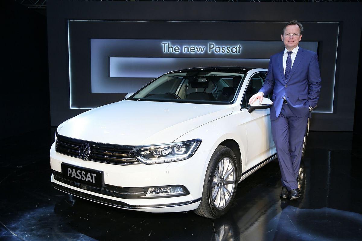 Steffen Knapp, director, Volkswagen Cars India with the new Passat.