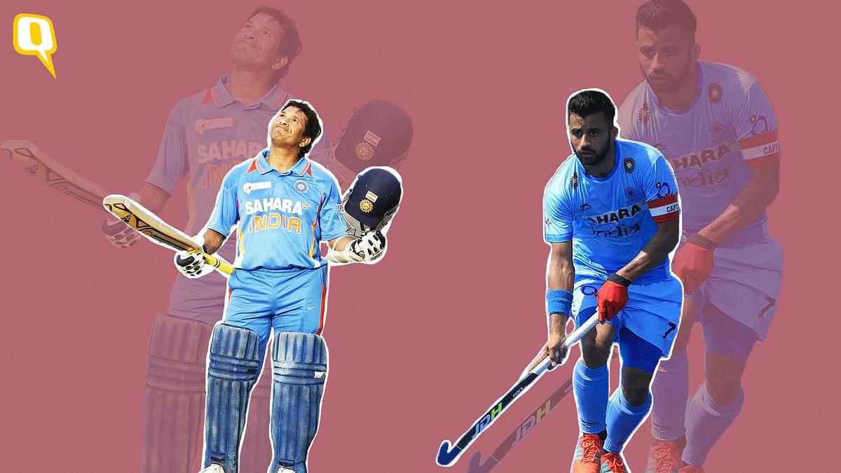 Sachin Tendulkar and Manpreet Singh – captain of the Indian hockey team.