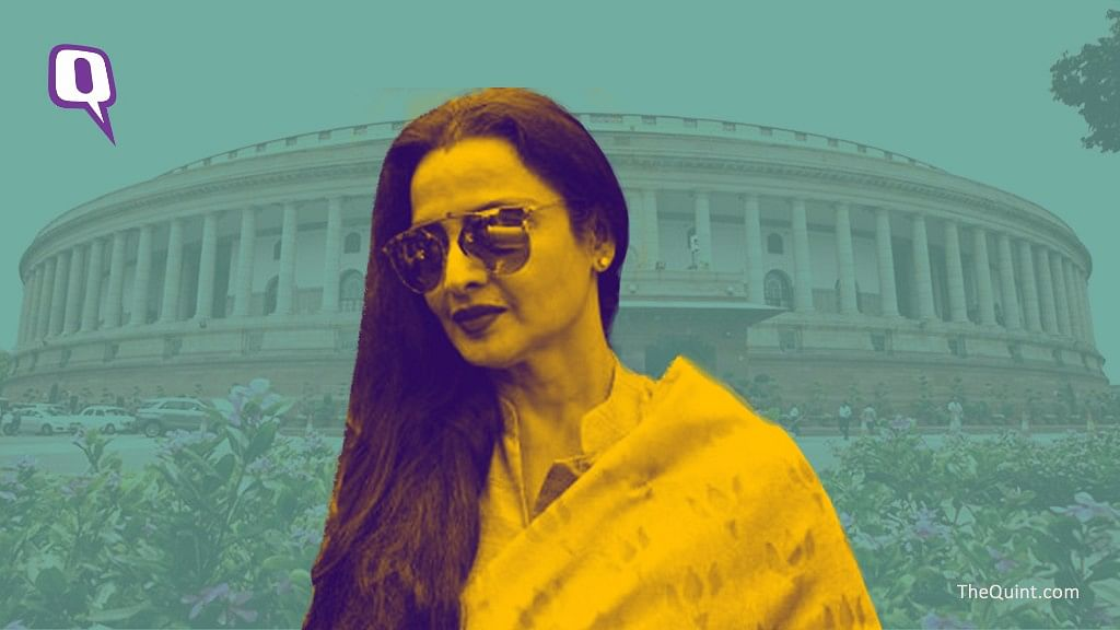 Rekha's track record in parliament has been abysmal. (Photo: Saumya Pankaj/The Quint)